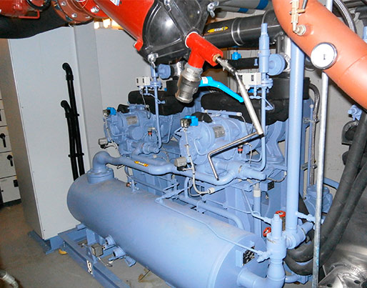 300 kW specialbygget NH3 chiller