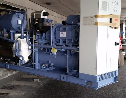 2 stk. 500 kW ammoniak chillere til opgradering af kølecentral.