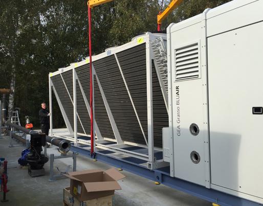 710 kW NH3 chillere til en større virksomhed på Sjælland