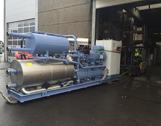 2 stk. 1 MW ammoniak chillere til udvidelse af kølecentral