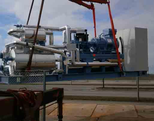 2 stk. 1 MW ammoniak varmepumper til fjernvarme